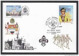 India 2009 Mayo College Scouts Headquarter Scout Master Maximum Card #23544 - Scouting