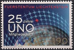 2015 Liechtenstein Mi. 1750  **MNH .  25 Jahre Mitgliedschaft Bei Den Vereinten Nationen. - Liechtenstein