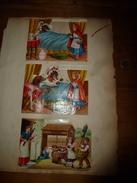 Années 1889 :Une Page De 3 Chromos (british) Histoire Du CHAPERON ROUGE;Dispute D'enfant Autours Du Chat Dans Le Puits - Trade Cards