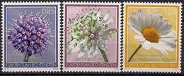 2015 Liechtenstein Mi. 1755-7  **MNH . Magerwiesenblumen - Liechtenstein