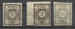 """Sowjetische Zone 51atxI, 51atxII, 52atx  """"3 Briefmarken Im Satz: Ziffernserie Ost.Sachsens """" Gestempelt Mi.:39,00 - Zone Soviétique"""