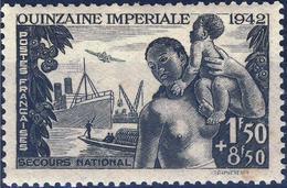 France - YT 543 - Au Profit Du Comité De Propagande De La Quinzaine Impériale (1942) NEUF AVEC LEGERE TRACE DE CHARNIERE - Neufs