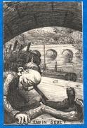 "Illustrateur - ORENS-  "" Enfin Seul ""   Satirique  ( Peu Commune  ) -  N° 6        CPA 1900 - Orens"