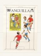 ANGUILLA 1981 ANNIVERSARY OF THE UNICEF BLOCK MINISHEET  SPORT FOOTBALL SOCCER - Anguilla (1968-...)