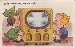 CARTE A SYSTEME   VILLENEUVE SUR YONNE 89 - Villeneuve-sur-Yonne