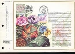 Feuillet CEF -- 1er Jour  --  N° 402 -- Societe Nationale D'Horticulture  - 1977 - 1970-1979