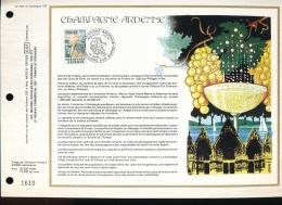 Feuillet CEF -- 1er Jour  --  N° 400  --   Champagne Ardenne  --  1977 - 1970-1979