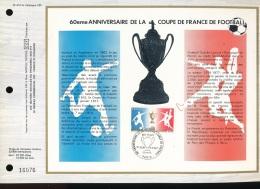 Feuillet CEF -- 1er Jour  --  N° 410 --  60 Eme Anniversaire De La Coupe De France De Football  - 1977 - FDC