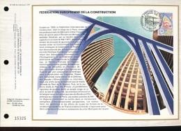 Feuillet CEF -- 1er Jour  --  N° 405 --  Federation Europeenne De La Construction  - 1977 - 1970-1979