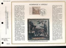 Feuillet CEF -- 1er Jour  --  N° 609 -- Hommage A Virgile  -- 1981 - FDC