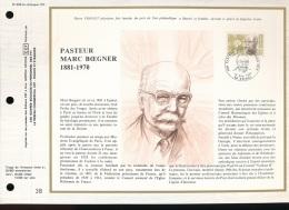 Feuillet CEF -- 1er Jour  --  N° 608 -- Pasteur Marc Boegner - ( 1881 - 1970 )  -- 1981 - FDC