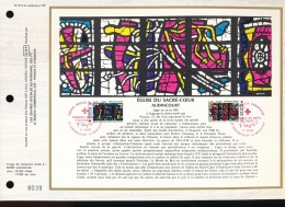 Feuillet CEF -- 1er Jour  --  N° 612 -- Eglise Du Sacre - Coeur  -- Audincourt  -- 1981 - FDC