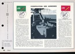 Feuillet CEF -- 1er Jour  --  N° 203  -- Codification Des Adresses   -- 1972 - 1970-1979