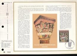 Feuillet CEF -- 1er Jour  --  N° 224   --  Eglise Saint - Austremoine Issoire  -- 1973 - 1970-1979