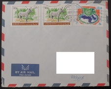 LIBAN 1971 Ligue Arabe - Ane Ezel - Ligue Arabe  /  Mi N° 1025 1112  YT PA 273 518  / Sur Lettre - Libanon