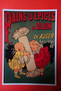 CPM PUB -  PAINS D'EPICES DE DIJON CH. AUGER PAR JOSSOT - Pubblicitari
