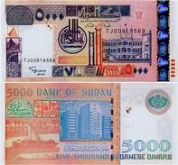 SUDAN       5000 Dinars       P-63       2002 / AH1422        UNC - Soedan
