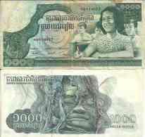 Cambodge 1000 RIELS Pick 17 TTB - Cambodia