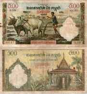 Cambodge - CAMBOdia - 500 RIELS 1955-72 - Pick 14d TTB (VF) - Cambodia