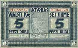 Lettonie 5 RUBLI Pick 3f SUP- - Lettonie