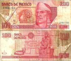 Mexique - Mexico 100 PESOS 10/5/1996 -  Pick 108b TB (Fine) - Mexico