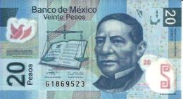 Mexique - Mexico 20 PESOS Pick 122 (23/5/2009)- TTB (VF) - México