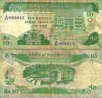 Maurice - Mauritius 10 RUPEES (1985) Pick 35 TB (F) - Eiland Man/ Anglo-Normandische Eilanden