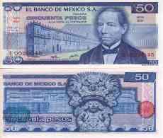 Mexique - Mexico 50 PESOS 1973 - Pick 65a NEUF (UNC) - Mexico