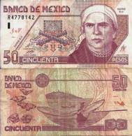 Mexique - Mexico 50 PESOS 26/3/2002 - Pick 117b TTB (VF) - México