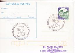 157-Storia Postale-Marcofilia-Tema:Militaria-Aviazione-Annullo Speciale Trapani Ann. Costituzione 37° Stormo A.M. - 6. 1946-.. Repubblica