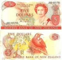 Nouvelle-Zélande - Zealand 5 DOLLARS (1981-85) Pick 171a TTB (VF) - Nouvelle-Zélande
