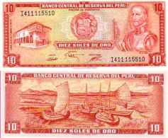 Pérou 10 SOLES DE ORO Pick 106 NEUF - Perù