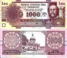 Paraguay 1000 GUARANIES 2004 - Pick 222a UNC - Paraguay