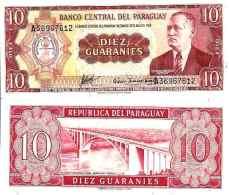 Paraguay 10 GUARANIES (L 1952) - Pick 196b NEUF (UNC) - Paraguay