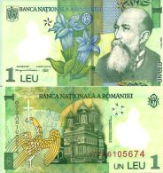 Roumanie - Romania 1 LEU 2007 - Pick 117a3  NEUF (UNC) - Rumania