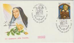 312-Storia Postale-Marcofilia-Tema:Religione-Santi-S.Rita DaCascia-Annullo Speciale 1981 Su F.D.C. Roma - 6. 1946-.. Repubblica