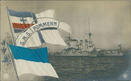 AK S. M. S. SMS Pommern, Um 1910 (23714) - Krieg