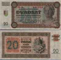 Slovaquie - Slovakia 20 KORUN (1942) Pick 7s (Specimen) NEUF-UNC - Slovaquie