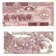 -----> Somalie - Somalia 5 SHILIN=5 SHILLINGS (1987) Pick 31c UNC <--------- - Somalia