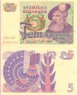 Suède - Sweden 5 KRONOR Pick 51d (1981) UNC - Suède