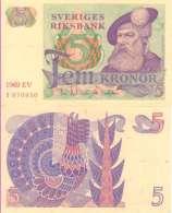 Suède - Sweden 5 KRONOR Pick 51a (1969)  A/UNC - Suède