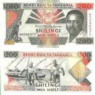 Tanzanie - Tanzania 200 SHILINGI Pick 25b NEUF - Tanzanie