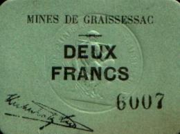 GRAISSESSAC 2 Francs P 34/49 SPL - Bonds & Basic Needs