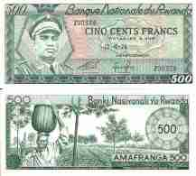 Rwanda 500 FRANCS (1974) Pick 11 NEUF- UNC - Rwanda