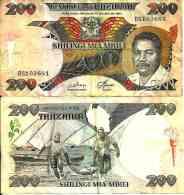 Tanzanie - Tanzania 200 SHILLINGI 1986 -  Pick 18a TTB (VF) - Tanzanie