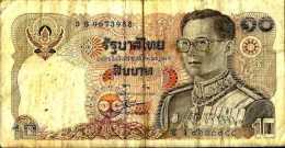 Thaïlande 10 BAHT 1980 - Pick 87 TB (VG) - Thaïlande