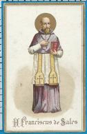 Holycard    Van Cortenberg   St. Franciscus De Sale    Litanie - Devotion Images