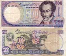 Venezuela 500 BOLIVARES 31/5/1990 - Pick 67d TTB (VF) - Venezuela