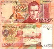 Venezuela 50 000 BOLIVARES (1998) Pick 83 TTB (VF+) - Venezuela