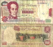 Venezuela 1000 BOLIVARES 6/8/1998 - Pick 76d  TB - Venezuela